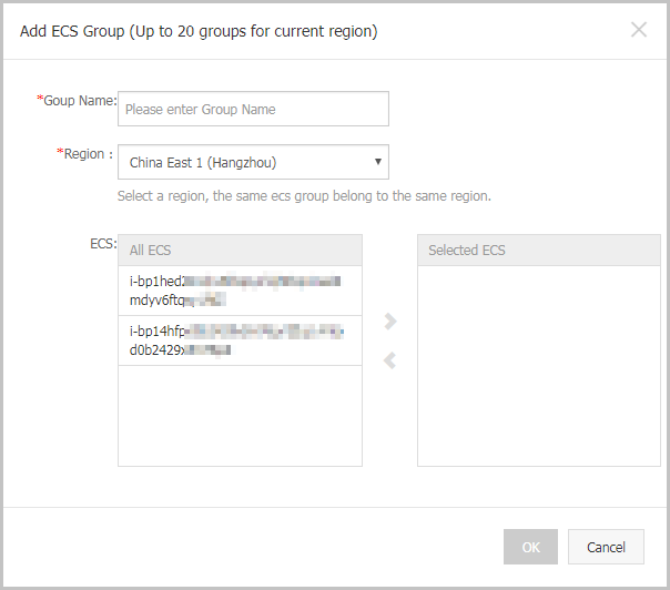 Create an ECS group
